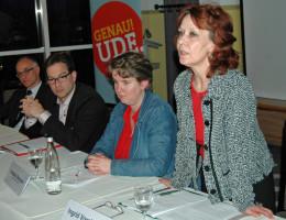 Herbert Singer, Florian Pronold, Katharina Schrader, Ingrid Vornberger (v.l.)