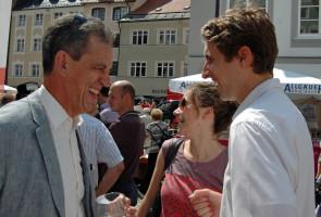 Martin Bernhard im Gespräch mit dem amtierenden OB Dr. Ulrich Netzer