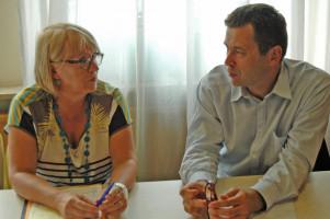 Im Gespräch Angelika Graf und Uwe Hardt