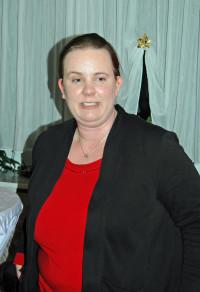 Kreisvorsitzende Katharina Schrader bei der Begrüßung