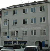 """In der Gaststätte """"Goldenes Ross"""" schlug die Geburtsstunde der Kemptener SPD am 22.11. bzw. 7.12.1890, Aufnahme des Gebäudes 2015"""