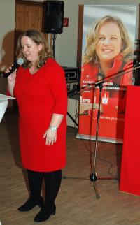 OB-Kandidatin und SPD-Kreisvorsitzende begrüßt die Gäste des Neujahrsempfang 2020