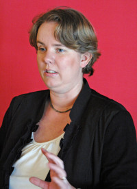 Begrüßung durch die SPD-Kreisvorsitzende Katharina Schrader