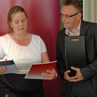 Kreisvorsitzende Katharina Schrader mit Stadtarchivar Dr. Franz Rasso Böck