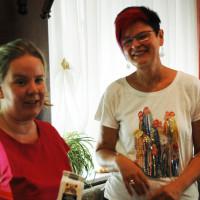 Kreis- und Fraktionsvorsitzende Katharina Schrader mit Bezirksrätin Petra Beer