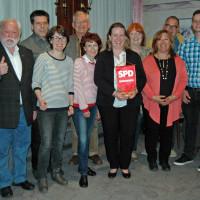 Auf dem Foto von links Siegfried Oberdörfer und Günter Reng (jeweils stellv. Vorsitzende), Ute Kosak (Beisitzerin), Lothar Köster (Beisitzer Öffentlichkeitsarbeit), Ingrid Vornberger (Schriftführe-rin),Katharina Schrader (Vorsitzende), Gina Liebhaber (Bei